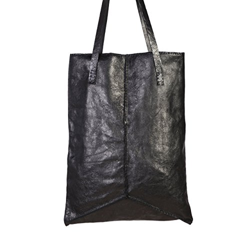 ade Shoulder Handbag Leather Tote, Hand Stitched Black Leather Tote Bag (Black Stitched Handbag)
