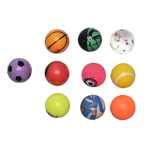 (Party Favors - 10pcs Mixed Bouncy Ball Toy Child Elastic Rubber Children Kids Of Pinball Party Acc Dia 2.7cm - Inflatable Note Drawstring Hair Mouse Bubbles Jungle Unicorn Vintage Makers)