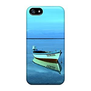 Excellent Design Boat On Still Water In The Maldives Case Cover For Iphone 5/5s