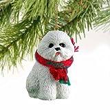 1 X Bichon Frise Miniature Dog Ornament