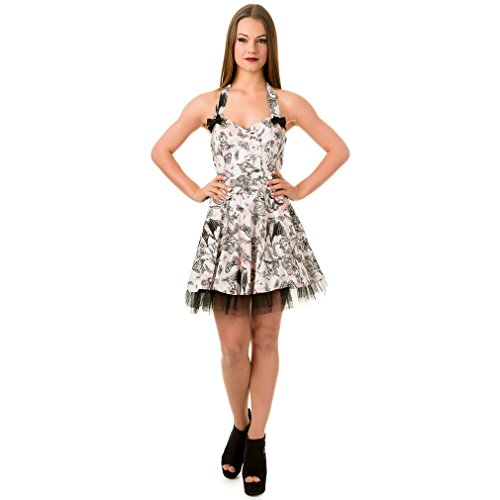 Banned Damen Neckholder Minikleid - Untamed Garden Mini Dress