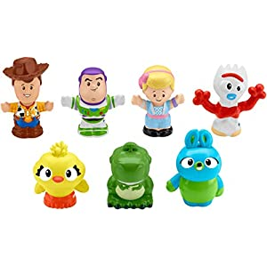 41OjLAyfv1L. SS300  - Fisher-Price Disney Toy Story 4, 7 Friends Pack by Little People