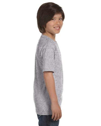 Gildan Dryblend Youth T-Shirt, Sport Grey, Medium