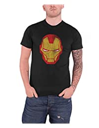 Avengers Marvel Comics Mens T Shirt Black Iron Man Distressed Official