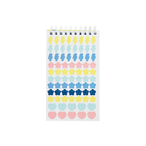 Mr Wonderful Multicolor Bloc con Espiral de 1000 Pegatinas Antiapuntes Tostones 9,5 x 16 x 1 cm