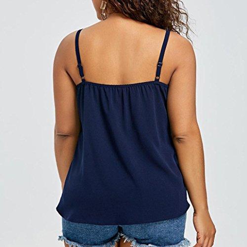 MRULIC Damen Mode Frauen Casual Plus Größe Farbe Block Cami Strap ...