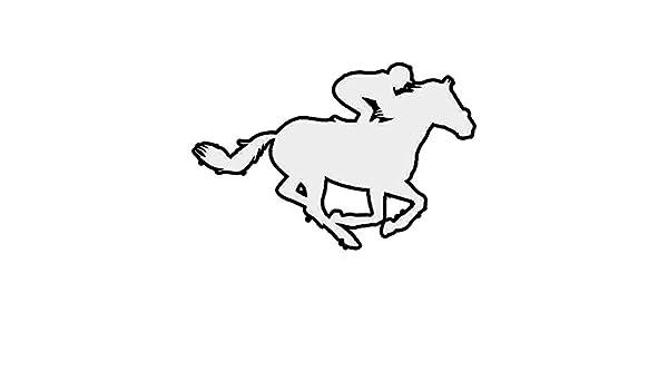Jockey Sticker Die Cut Decal steeplechase racing horse