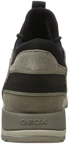 Mujer Zapatillas a D para B Geox Rosa Aneko Taupe ABX 0Zqxq6w