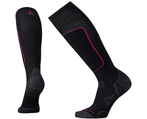 (Smartwool Women's PhD Ski Light Elite Socks (Black) Medium)