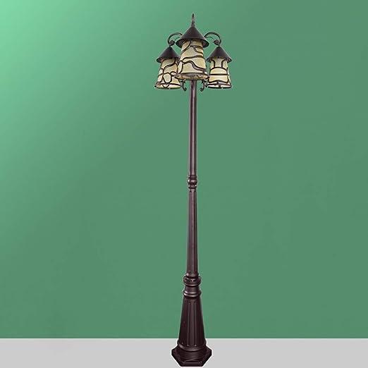 KMYX 2m Luces de Pilar de Doble Cabeza Europeas Lámpara de pie ...