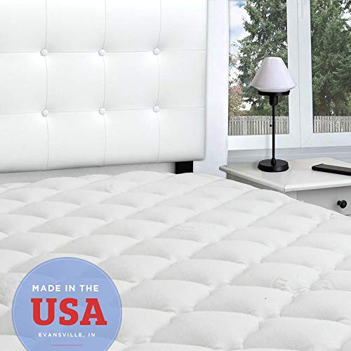 eLuxurySupply Rayon from Bamboo Extra Thick Mattress Topper with...