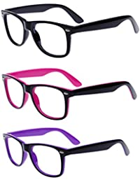 Unisex Retro 80' Clear Lens Glasses