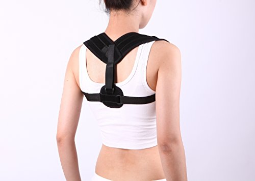 Lovotex Adjustable Figure 8 Posture Corrector for Men & Women, Clavicle Brace for Shoulder, Upper Back & Neck Support | Ultra Comfortable Breathable Mesh - Fits: 28' - 40' Chest
