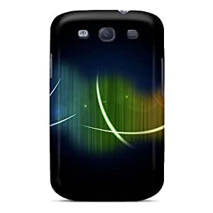 Abstract Rainbows Case Compatible With Galaxy S3/ Hot Protection Case