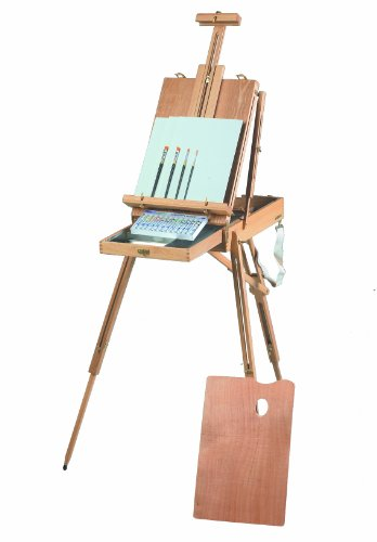 (Martin Rivera Wooden Sketch Box Easel and Acrylic Painting Kit, Includes Pad and 12 Acrylic Colors, 1 Set Each)