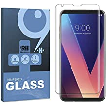 [2-Pack] ALECTIDE LG V30/V30 Plus Screen Protector,nilogo 9H Hardness HD Tempered Glass Screen Protector for LG V30/V30 Plus Full Cover [Anti-Scratch] [No-Bubble] [Quickly Responsive]