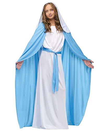 Virgin Mary Costume For Kids (Fun World Costumes Baby Girl's Child Mary Costume, Blue/White, Medium)
