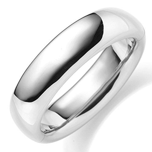 Les bracelets bracelet 19.5 mm en or blanc 585 lisse brillant