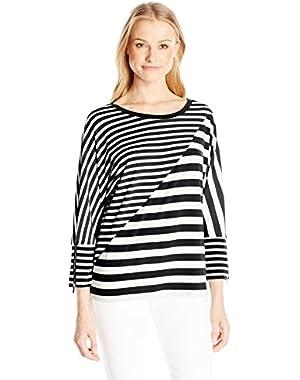 Calvin Klein Women's Mixed Stripe Dolman