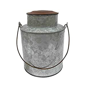 """Craft Outlet Galvanized Old Fashion Can, 9"""""""