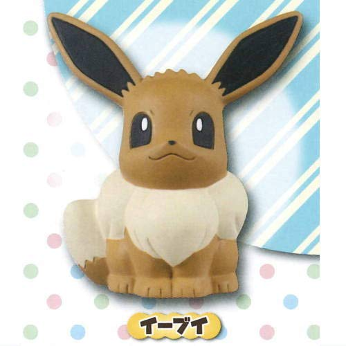 Takara Tomy Pokemon Eevee Character Soft Foam Squishy Figure Gacha Capsule Toy Collection Anime Art