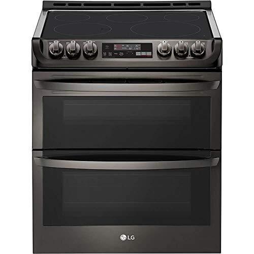 LG LTE4815BD 7.3 Cu. Ft. Black Stainless Double Oven Electric Range