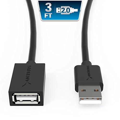 Sabrent 22AWG USB 2.0 Extension Cable - A-Male to A-Female [Black] 3 Feet (CB-2030)