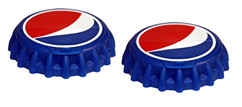 (Jokari 2 Count Pepsi Modern Logo Snap and Sip Can Caps, Red/White/Blue)