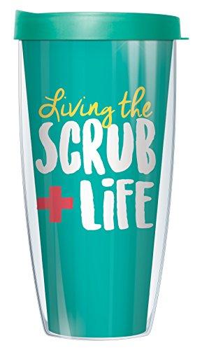 Living the Scrub Life 22oz Mug Tumbler Cup with Teal Lid
