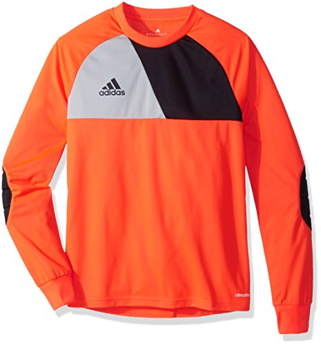 (adidas Kids Youth Soccer assita 17 Goalkeeper Jersey, Solar Red/Stone/Black, Large)