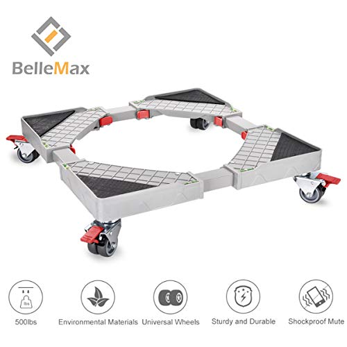 Furniture Dolly Roller Movable Base Size Adjustable with 8 Locking Rubber Swivel Wheels,Pedestal Telescopic Base for Portable Washing Machine Refrigerator Washer Dryer.