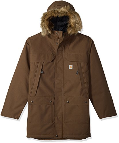Carhartt Men's Big Big & Tall Quick Duck Sawtooth Parka, Dark Canyon Brown, 2X-Large/Tall