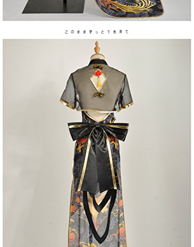 Linie Tianyi Damen Kleid A Luo Cosplayfly Black 0xEgTY0n