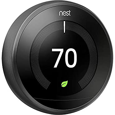 Google Nest Learning Thermostat, 3rd Generation, Mirror Black