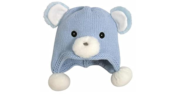 1b212c86d745f Amazon.com  Stephan Baby 113131 Baby Hat-Bear-Blue Knit - Fits 6-12 Months   Baby