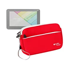 """DURAGADGET Red Neoprene Cover With Front Storage Pocket For Lenovo Miix 2, Lenovo Yoga 8"""" and HP Slate 8 Pro"""