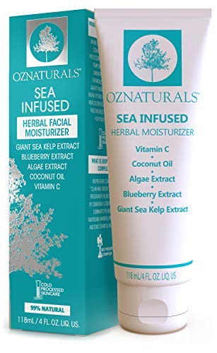 OZNaturals Day Cream Firming Cream - Face Tightening and Lifting Cream with Vitamin C, Sea Kelp & Algae Extract - Light Weight Moisturizing Face Lotion Non Comedogenic Wont Clog Pores - 4 Fl Oz