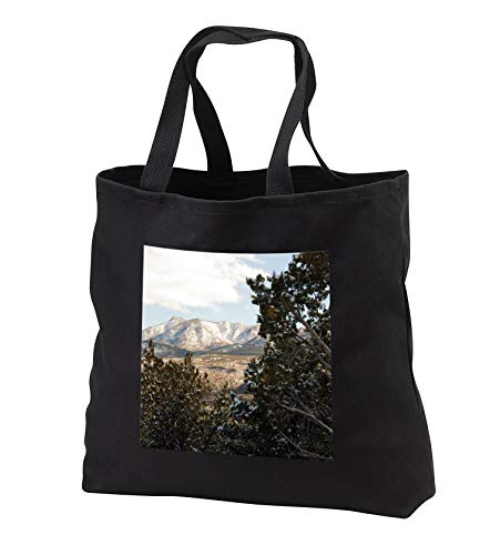 Jos Fauxtographee- Winter Scene Pine Valley - A beautiful Winter scene in the Pine Valley mountains with trees - Tote Bags - Black Tote Bag JUMBO 20w x 15h x 5d (tb_288629_3)