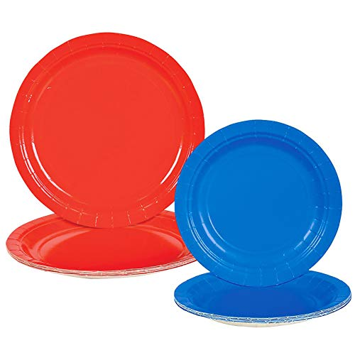 Patriotic Party Supply Plate Set Red 9