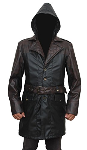 Assassins Syndicate Jacob Frye Coat PU Leather Attire (Mallet Puff)
