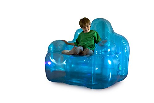 Light-Up Inflatable Blue Aurora Blow Up Lounge Chair - Overs