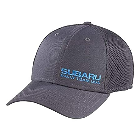 OFFICIAL SUBARU GEAR Genuine Subaru Rally Team USA New Era Stretch Mesh Visor Cap Grey Rally Gear Hat Sti WRX