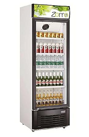 Kühlschrank mit Glastür 350 L Getränkekühlschrank Umluft ...