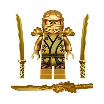 Amazoncom LEGO Ninjago  The GOLD Ninja with 3 Weapons Toys  Games
