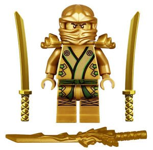 LEGO Ninjago - The GOLD Ninja with 3 Weapons -