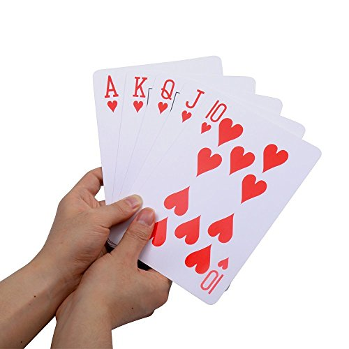 Gameland 5 x 7 Inch Gaint Jumbo Playing - Playing Cards Giant
