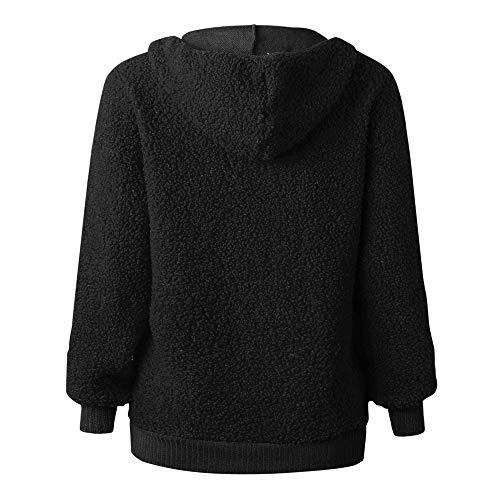 Fte Sweat Cordon Blouse Haut Sport Longues Manches Vtements Hiver Filles Pull Casual Femme Homme Automne Mode Capuche Shirt Noir Chic Top zwZqrz