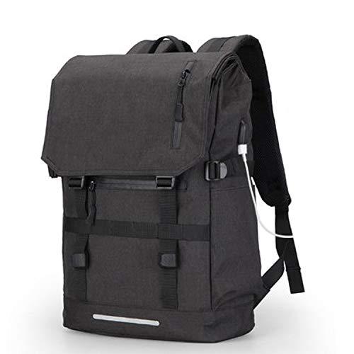 USB Design Backpack Bag Large Capacity 15.6 Inch Laptop Bag Man Black Backpack women School Bags,Black USB,15inches