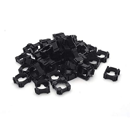 Antrader 50 Pcs 18650 Lithium Cell Cylindrical Battery Case Plastic Holder Bracket for DIY Battery Pack