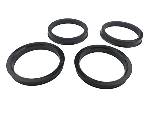 [해외]4 개 조각 - 허브 중심 링 - 74.1mm ID - 63.4mm ID - 검은 색 폴리 카본 허브 링/4 Pieces - Hub Centric Rings - 74.1mm OD to 63.4mm ID - Black Poly Carbon Hub Rings